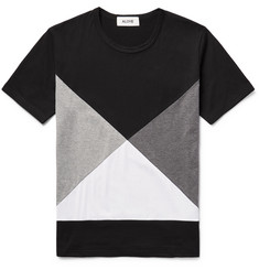 Aloye - Colour-Block Cotton-Jersey T-Shirt