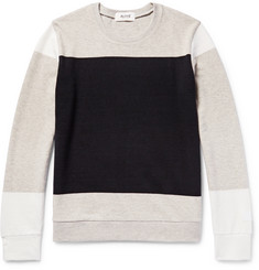 Aloye Colour-Block Cotton and Yak-Blend Sweater
