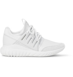 Adidas Originals Tubular Radial Leather and Suede-Trimmed Neoprene Sneakers