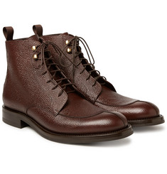 O'Keeffe - Algy Split-Toe Weatherproof Pebble-Grain Leather Boots