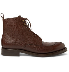 O'Keeffe Algy Split-Toe Weatherproof Pebble-Grain Leather Boots