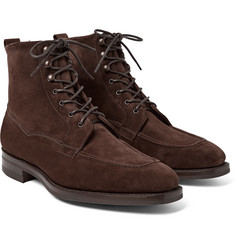 Edward Green - Nevis Shearling-Lined Suede Boots