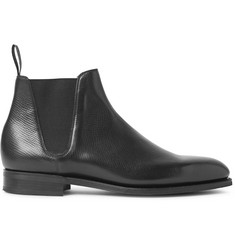 Edward Green Camden Cross-Grain Leather Chelsea Boots