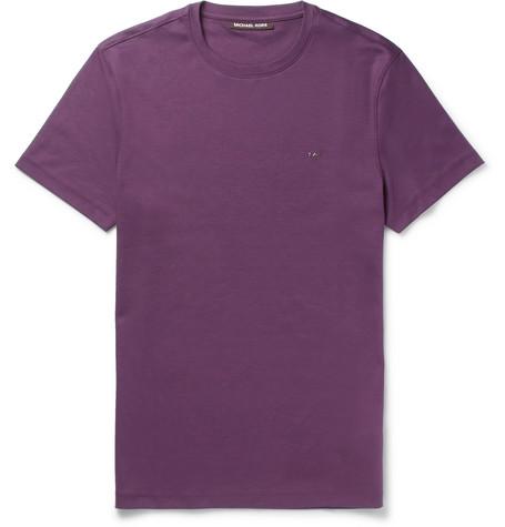 michael kors male 215965 michael kors slimfit cottonjersey tshirt burgundy