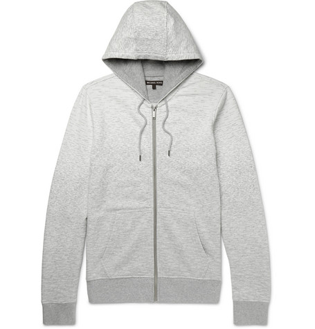 michael kors male michael kors degrade loopback cottonjersey zipup hoodie gray