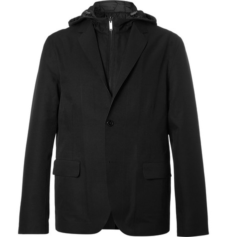 michael kors male michael kors layered twill and shell blazer black