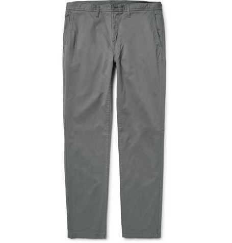 michael kors male michael kors slimfit garmentdyed stretchcotton twill chinos gray