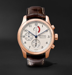 Bremont - America's Cup Regatta Chronograph 43mm Rose Gold and Alligator Watch