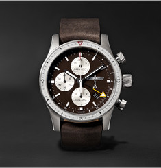 Bremont - Boeing 100 Automatic Chronometer 43mm Titanium and Leather Watch