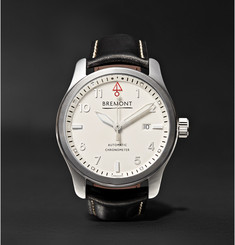 Bremont - SOLO P/W Automatic 43mm Stainless Steel And Leather Watch