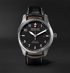 Bremont SOLO/PB Automatic 43mm Stainless Steel and Leather Watch