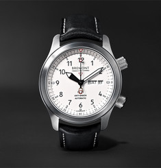 Bremont MB II 43mm Stainless Steel and Leather Watch
