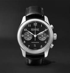 Bremont - ALT1-Classic/PB Automatic Chronograph 43mm Stainless Steel and Alligator Watch