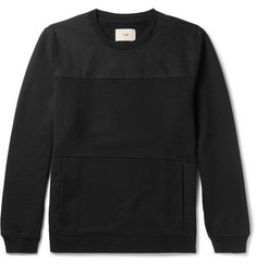 Folk Panelled Cotton-Twill and Loopback Cotton-Jersey Sweatshirt