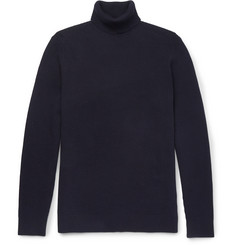 Folk Waffle-Knit Stretch-Cotton Rollneck Sweater