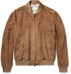 Hackett Mayfair Suede Bomber Jacket