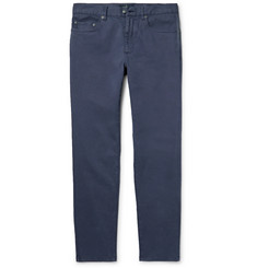 Hackett London Slim-Fit Brushed Stretch-Cotton Twill Trousers