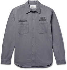 Wacko Maria Embroidered Cotton-Twill Overshirt