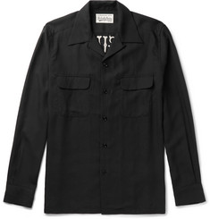 Wacko Maria Slim-Fit Camp-Collar Embroidered Piqué Shirt
