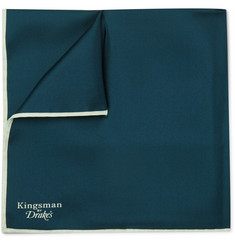 Kingsman - + Drake's Wool and Silk-Blend Pocket Square