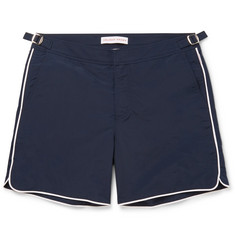 Orlebar Brown - Bulldog Mid-Length Stripe-Trimmed Swim Shorts