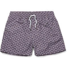 Frescobol Carioca Sidewalk Slim-Fit Short-Length Printed Swim Shorts