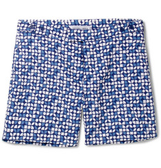 Frescobol Carioca Slim-Fit Short-Length Printed Swim Shorts