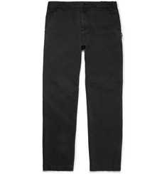 Stüssy Black Garment-Dyed Cotton-Twill Chinos