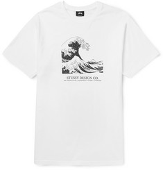 Stüssy High Seas Slim-Fit Printed Cotton-Jersey T-Shirt