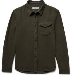 Outerknown Fogbank Double-Faced Brushed-Cotton Shirt