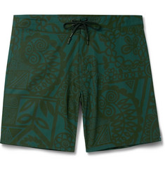 Outerknown Evolution Mid-Length Printed Swim Shorts