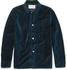 Our Legacy Cotton-Velvet Overshirt