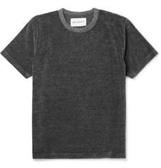 Our Legacy Mélange Cotton-Blend Velour T-Shirt