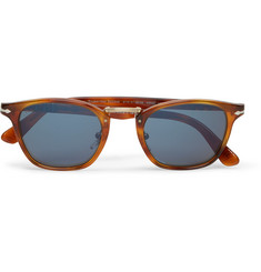 Persol - Typewriter D-Frame Acetate Mirrored Sunglasses