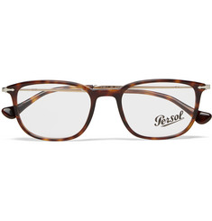 Persol D-Frame Tortoiseshell Acetate and Gold-Tone Optical Glasses