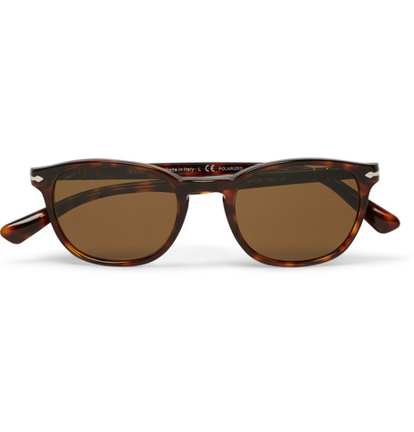 8fc61c9f53f38 Persol Square-Frame Tortoiseshell Acetate Polarised Sunglasses In Brown