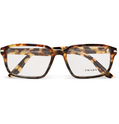 Prada - Havana Square-Frame Tortoiseshell Acetate Optical Glasses