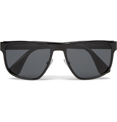 Prada - Square-Frame Metal and Acetate Polarised Sunglasses