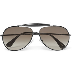Prada Aviator-Style Metal and Acetate Sunglasses
