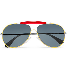 Prada - Aviator-Style Metal and Acetate Sunglasses