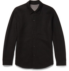 Theory Paytin Double-Faced Virgin Wool and Cashmere-Blend Overshirt