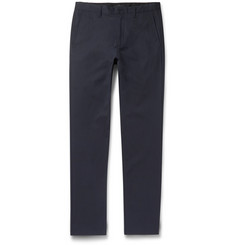 Theory Zaine Slim-Fit Stretch Cotton-Blend Trousers