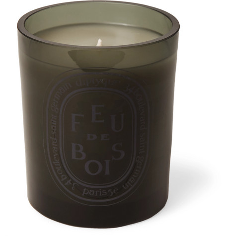 Grey Feu De Bois Scented Candle, 300g by Diptyque