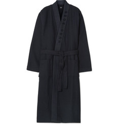 Hugo Boss - Loopback Waffle-Knit Cotton-Blend Robe