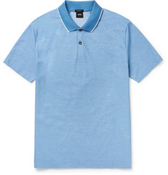 Hugo Boss Piket Slim-Fit Cotton-Piqué Polo Shirt