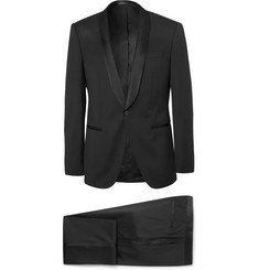 Hugo Boss Black Hanfrey Slim-Fit Silk-Trimmed Super 120s Virgin Wool Tuxedo