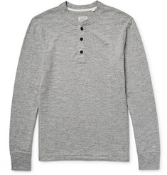 Rag & bone Mélange Cotton-Blend Jersey Henley T-Shirt