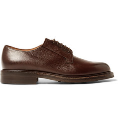 Cheaney Deal Burnished Pebble-Grain Leather Derby Shoes