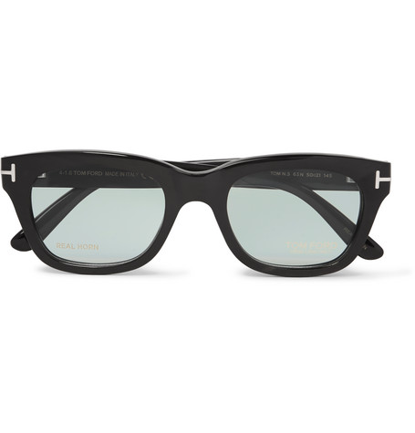 tom ford male tom ford private collection dframe horn optical glasses black