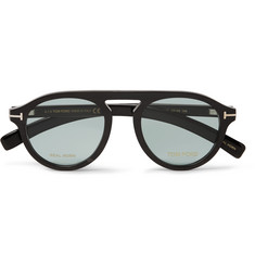 Tom Ford - Private Collection Round-Frame Horn Optical Glasses